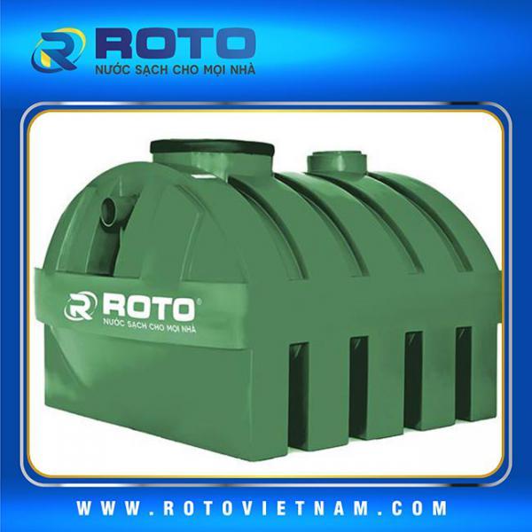 Bồn tự hoại khung chịu lực lọc thải vi sinh nguyên tắc 3 ngăn từ ROTO